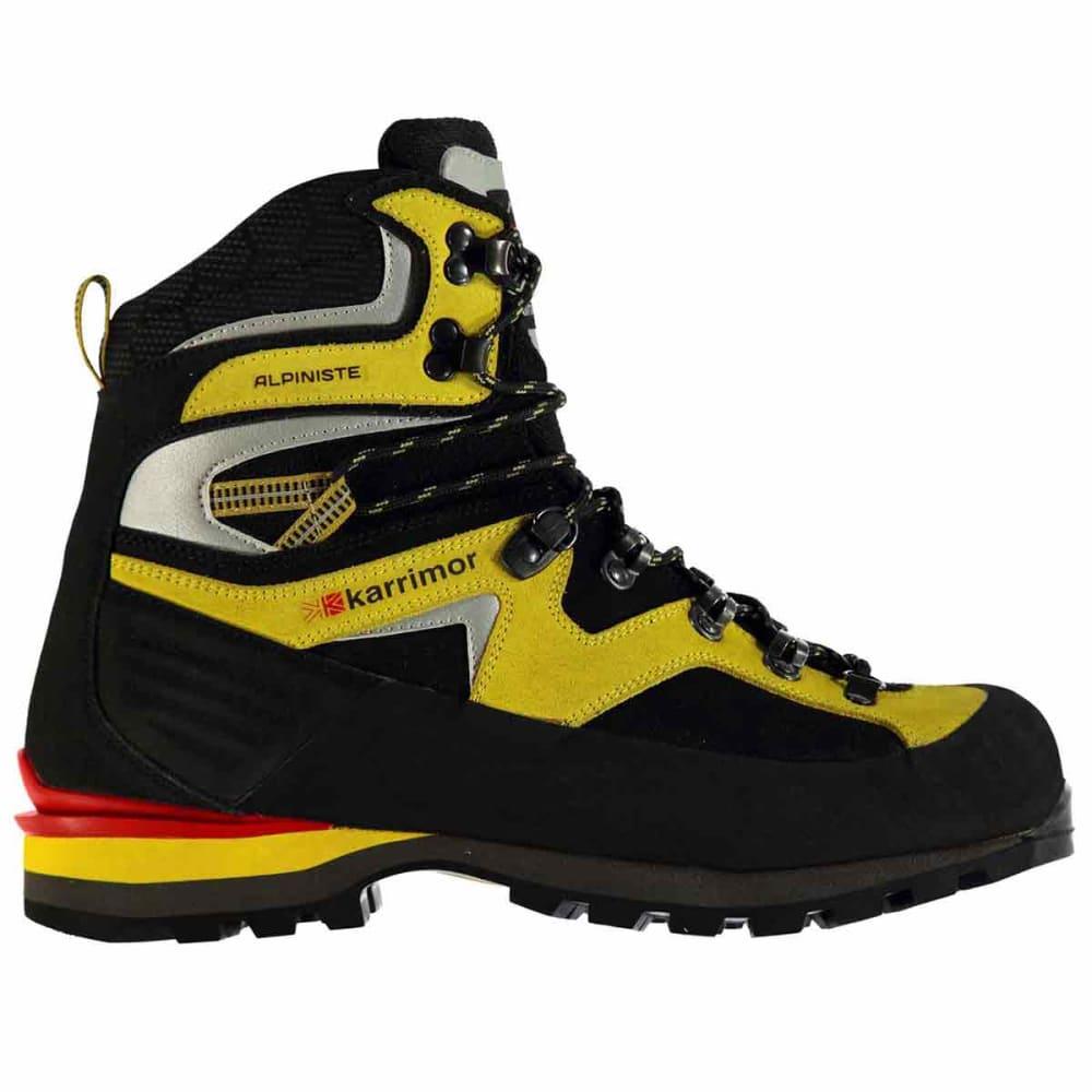 KARRIMOR Men  39 s Alpiniste Mountain Waterproof Mid Hiking Boots -  BLACK YELLOW e64f03482