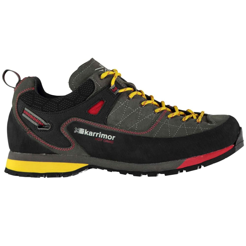 KARRIMOR Men's Hot Crag Low Hiking Shoes - CHARCOAL/YELLOW