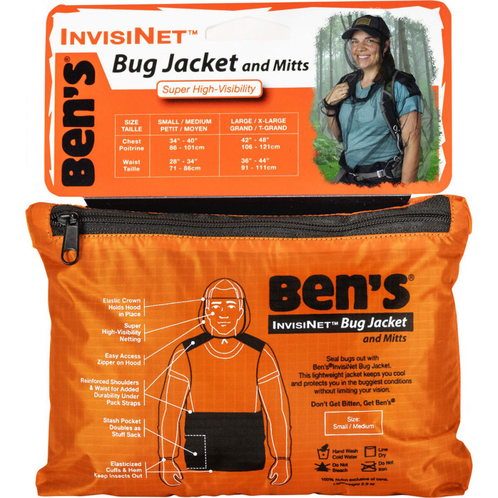 ADVENTURE MEDICAL KITS Ben's InvisiNet Bug Jacket and Mittens, S/M NO SIZE