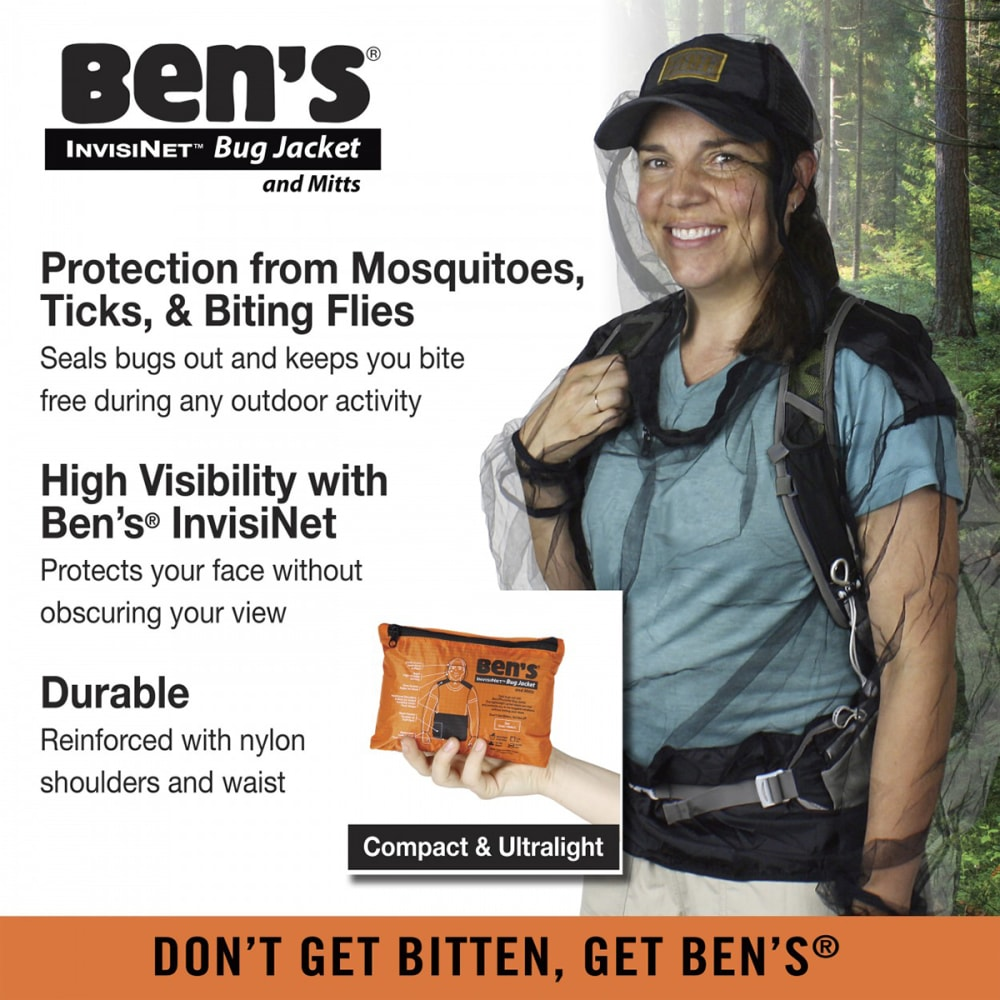 ADVENTURE MEDICAL KITS Ben's InvisiNet Bug Jacket and Mittens, L/XL - NO COLOR
