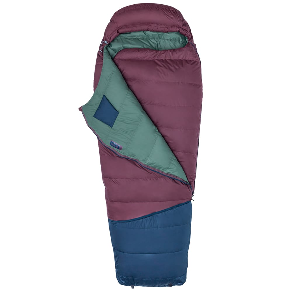 MARMOT Argon 25 Sleeping Bag, Long - BURGUNDY/TOTAL ECLIP