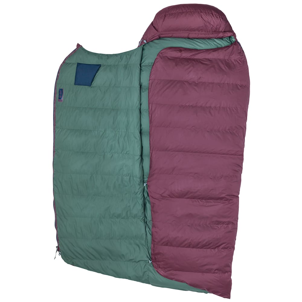 MARMOT Argon 25 Sleeping Bag, Long - BURGUNDY/TOTAL ECLIP