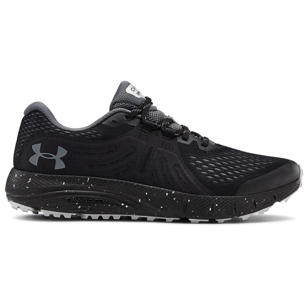 UNDER ARMOUR Men's Charged Bandit Trail Running Shoes - BLACK/GRY-001
