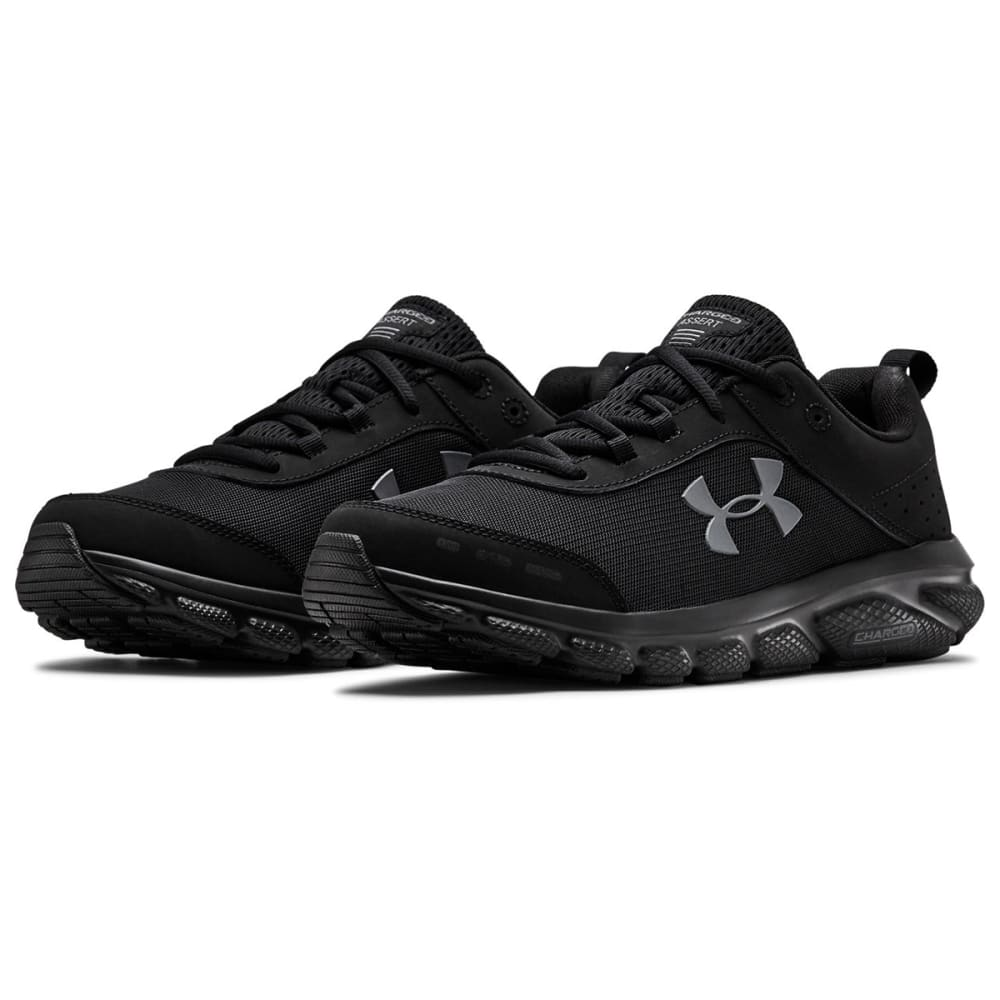 under armour black running shoes