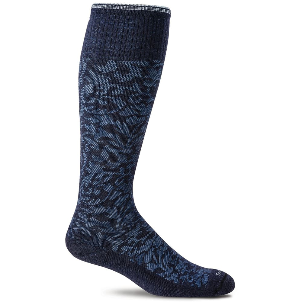 SOCKWELL Women's Damask Graduated Compression Socks - NAVY 600