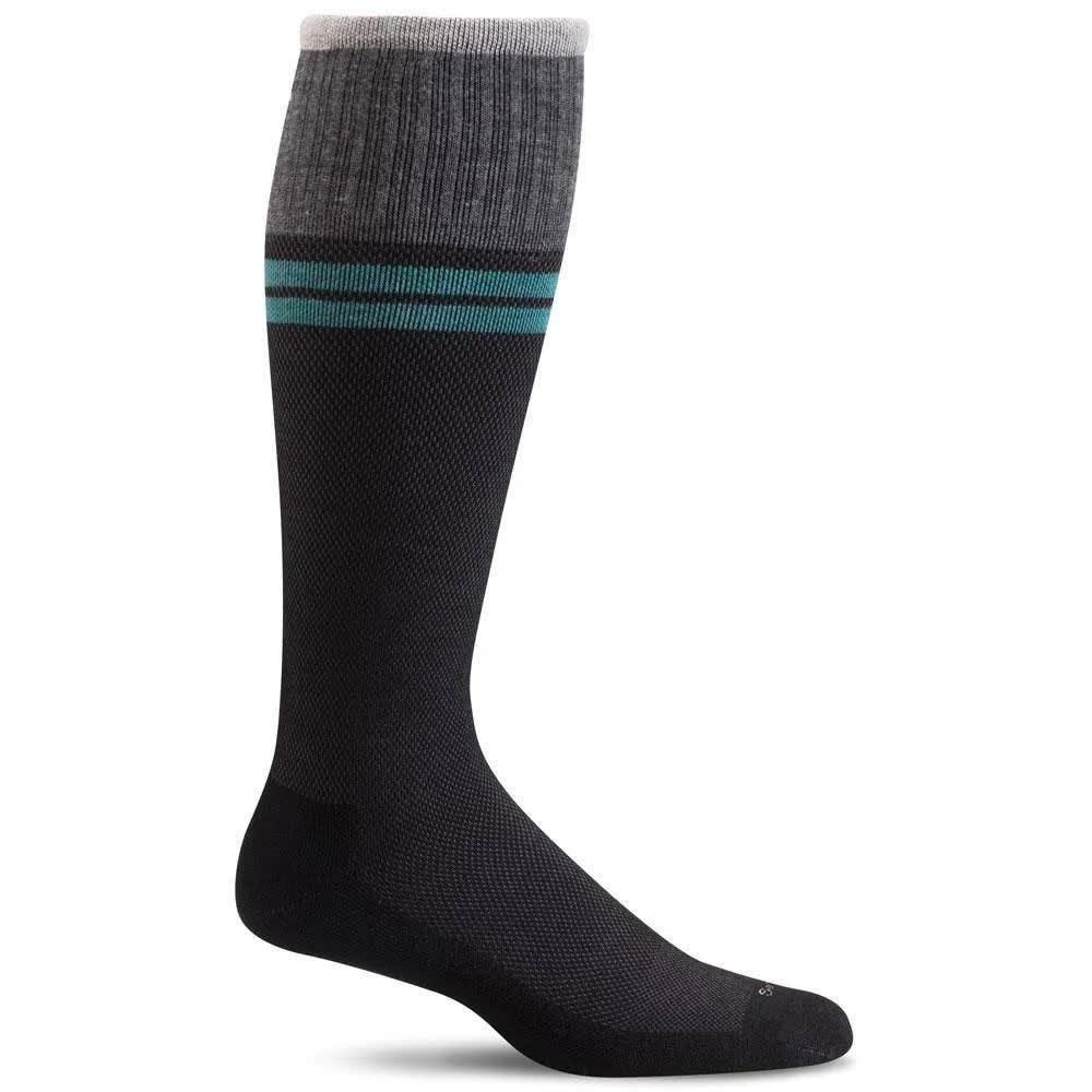 SOCKWELL Men's Sportster Moderate Compression Socks - BLACK 901