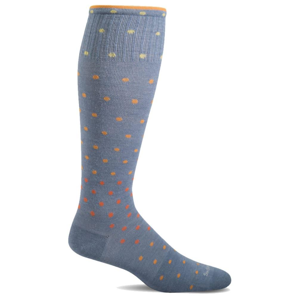 SOCKWELL Women's On The Spot Graduated Compression Socks - BLUESTONE 660