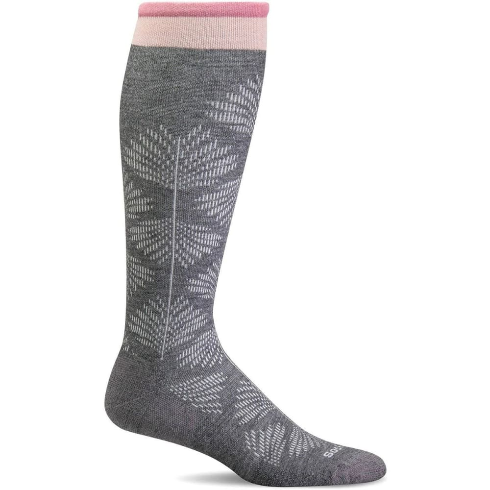 SOCKWELL Women's Floral Compression Socks - CHARCOAL 850