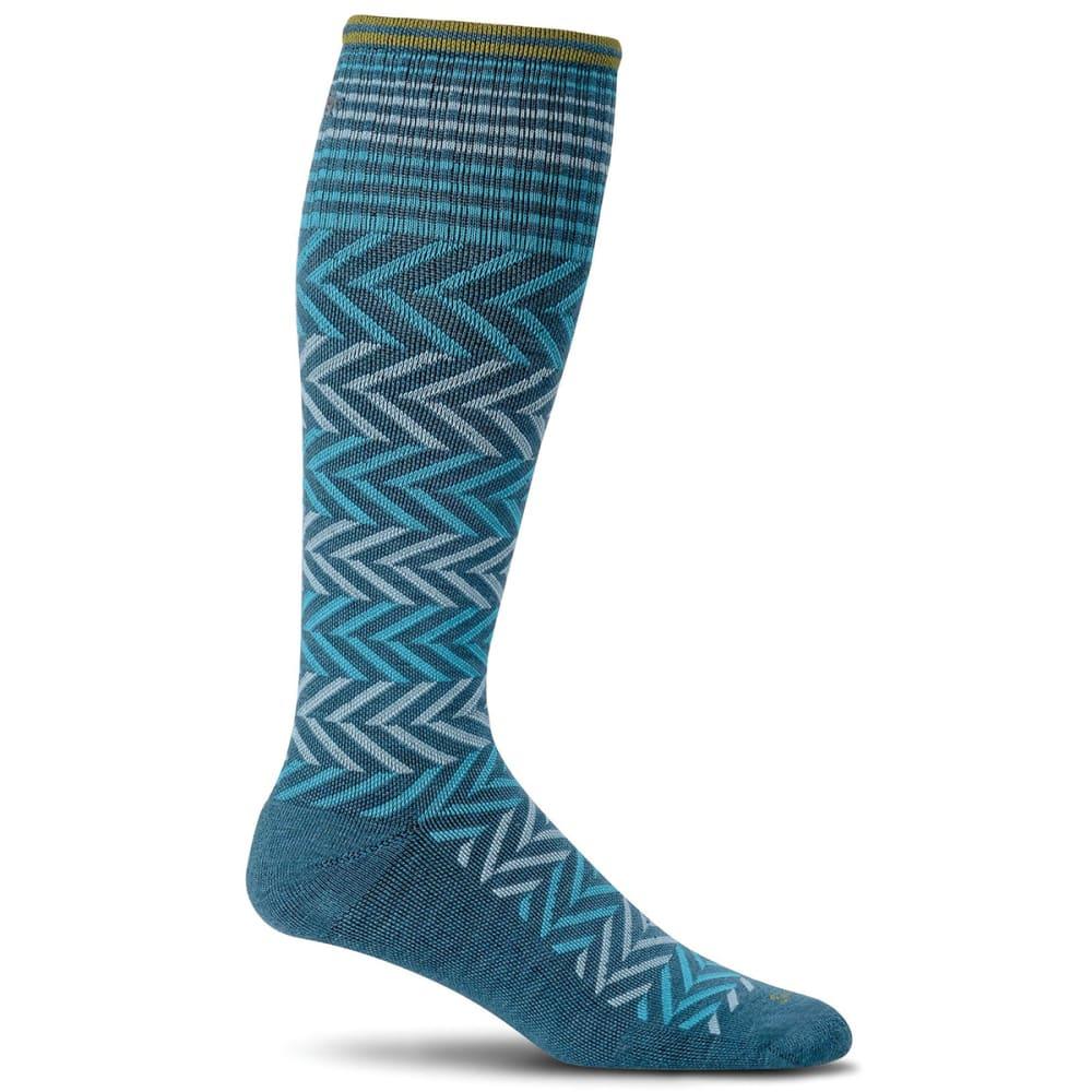 SOCKWELL Women's Chevron Compression Socks - TEAL 480
