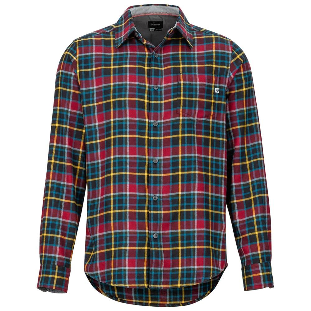 MARMOT Men's Fairfax Flannel Long-Sleeve Shirt - 6278 TEAM RED