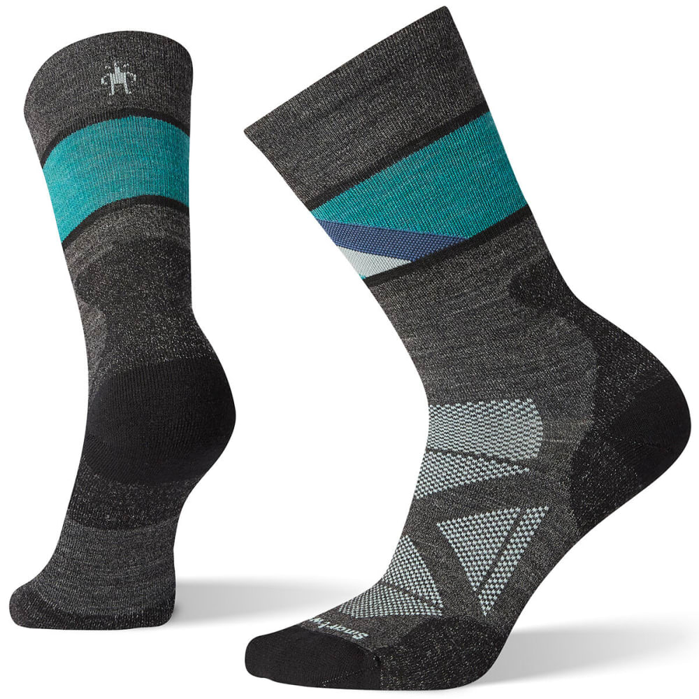 SMARTWOOL Women's PhD Pro Approach Crew Socks - CHARCOAL - 003