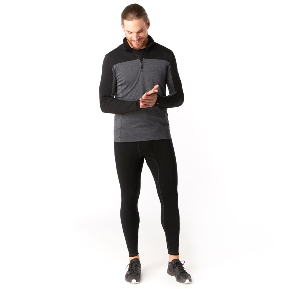 SMARTWOOL Men's Merino Sport 250 Long-Sleeve 1/4-Zip Pullover - BLACK - 001