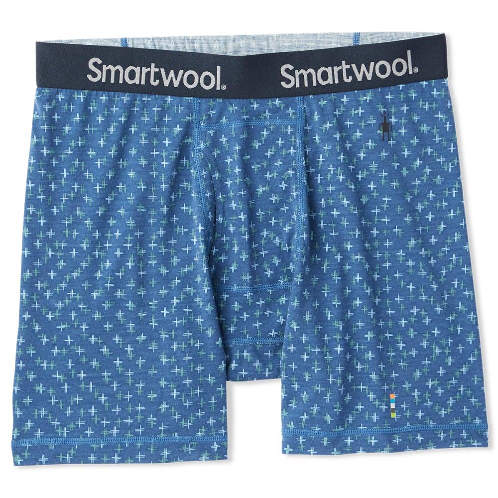 SMARTWOOL Men's Merino 150 Print Boxer Brief - ALPINE BLUE - C47