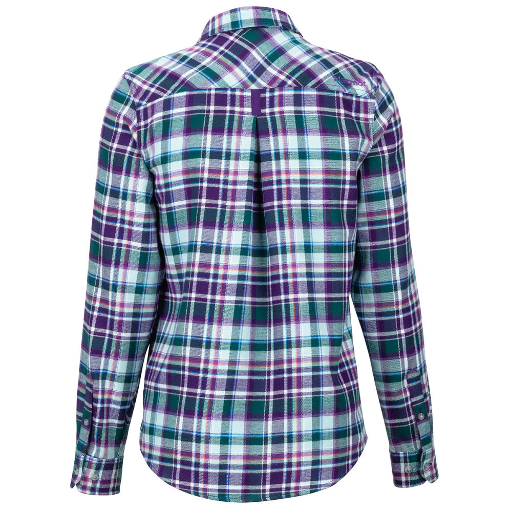 MARMOT Women's Bridget Flannel Long-Sleeve Shirt - 7298 ACAI