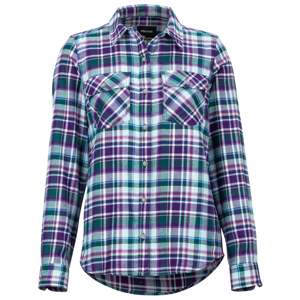 MARMOT Women's Bridget Flannel Long-Sleeve Shirt - 7298 ACAI
