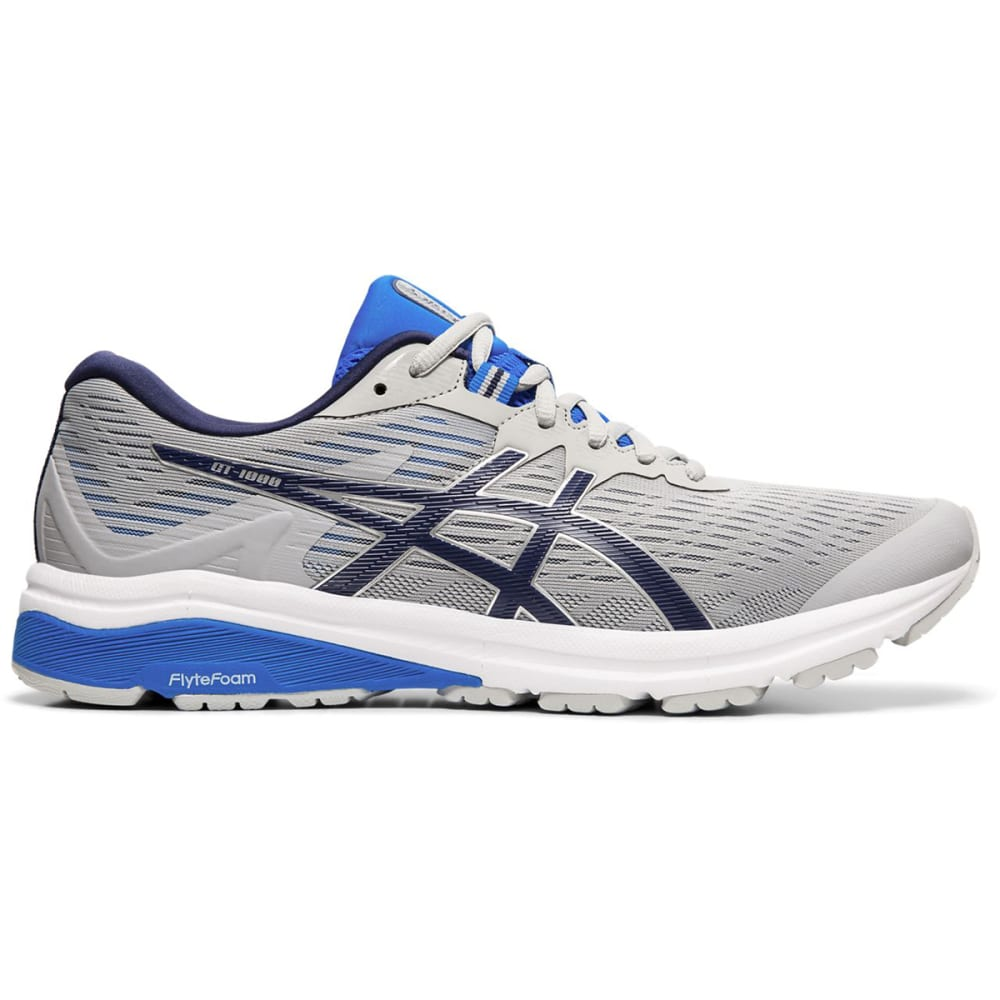 ASICS Men's GT-1000 8 Running Shoes - GREY/PEACOAT-020