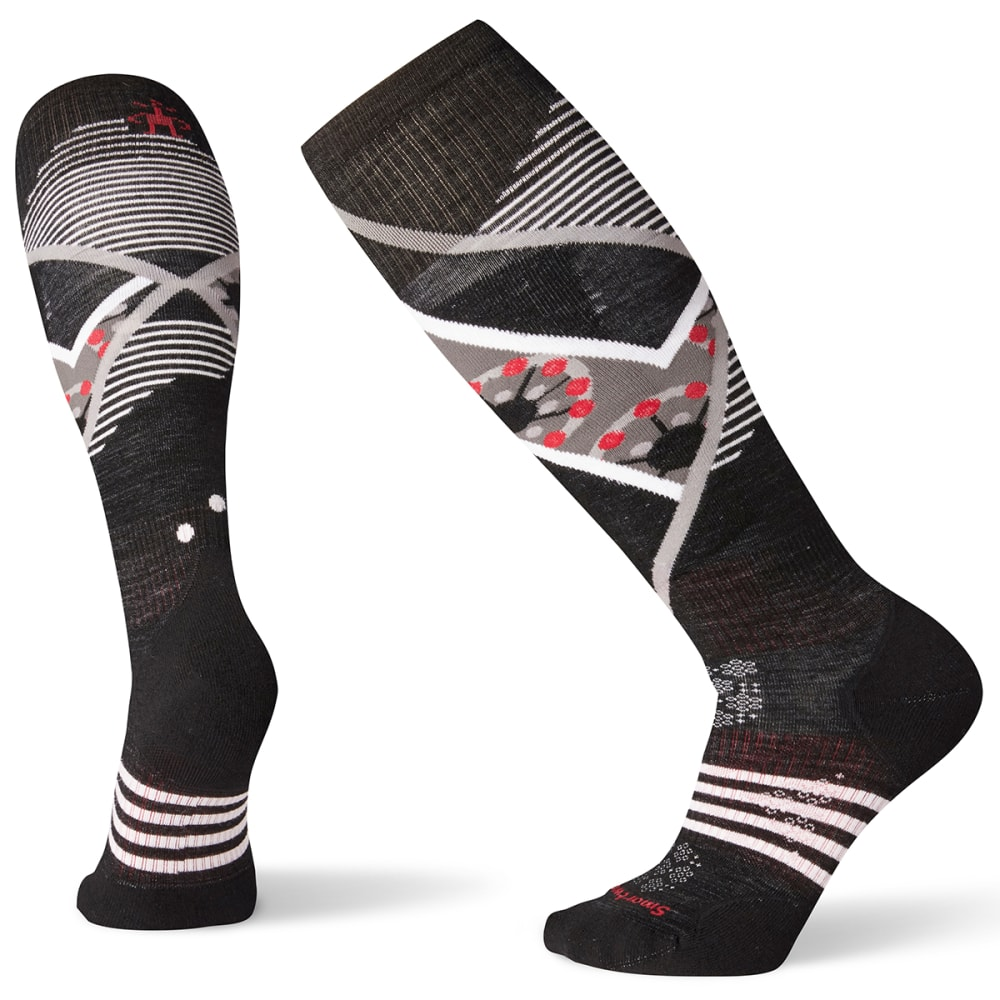 SMARTWOOL Women's PhD Ski Light Elite Pattern Socks - BLACK - 001