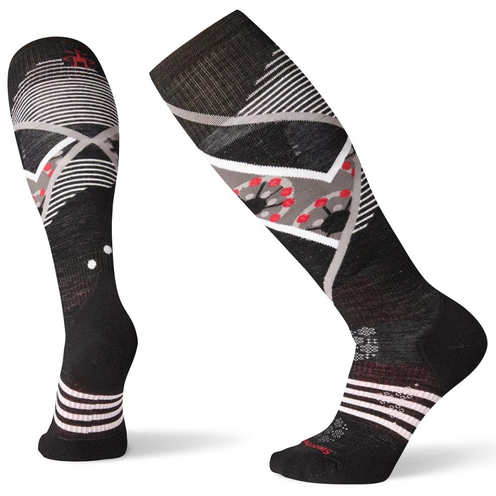 SMARTWOOL Women's PhD Ski Light Elite Pattern Socks - BLACK - 001