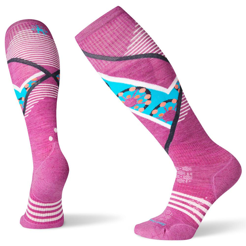 SMARTWOOL Women's PhD Ski Light Elite Pattern Socks - MEADOW MAUVE - A22