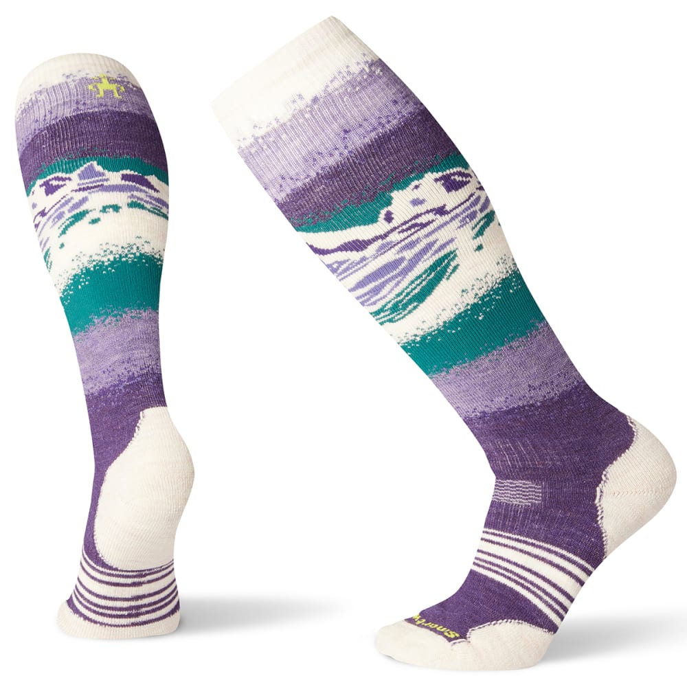 SMARTWOOL Women's PhD Snow Medium Socks - M PURPLE - 591