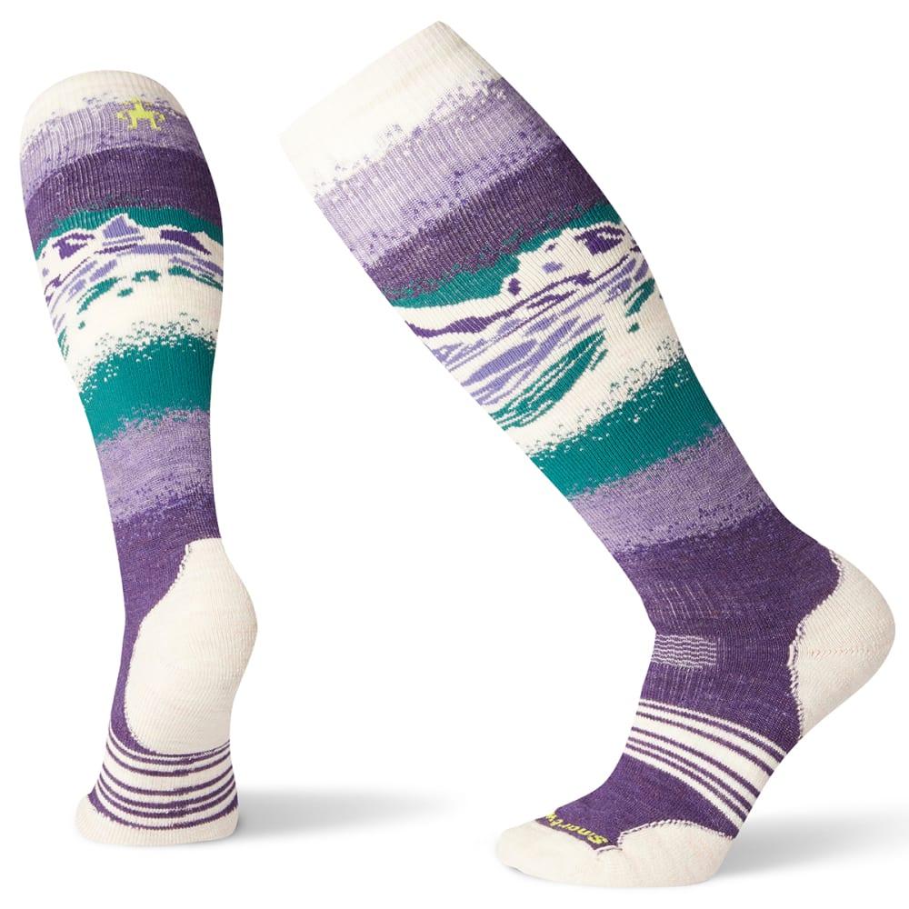 SMARTWOOL Women's PhD Snow Medium Socks - M PURPLE - 591
