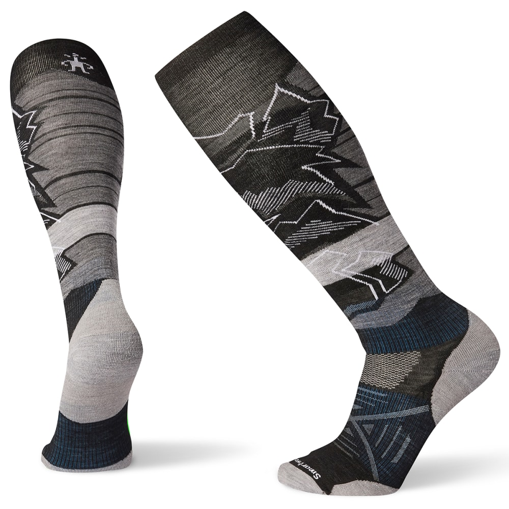 SMARTWOOL Men's PhD Ski Light Elite Knee High Socks - BLACK - 001