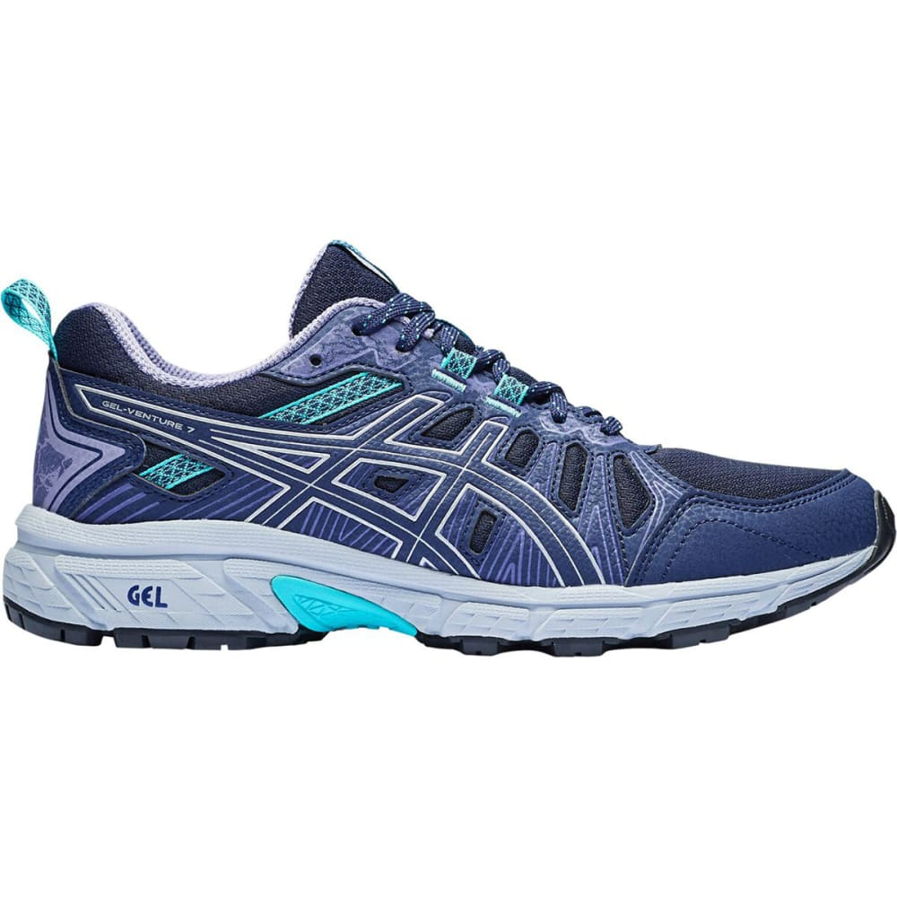 ASICS Women's GEL Venture 7 Running Shoes - BLACK/SILVER -001
