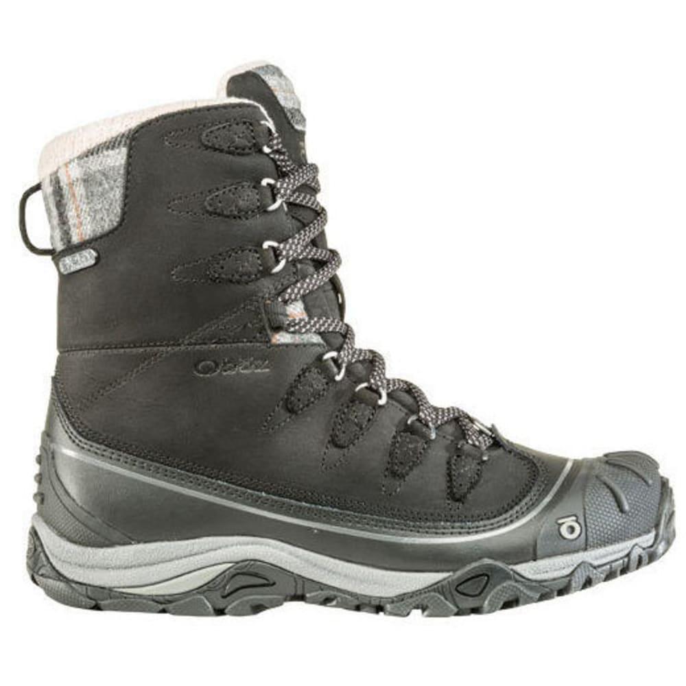 "OBOZ Women's Sapphire 8"" Insulated Waterproof Hiking Boot - BLACK/BEET"