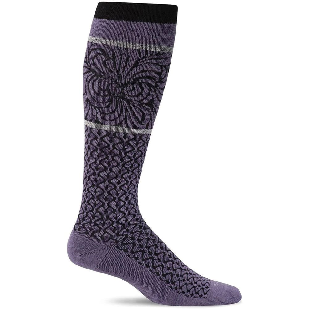 SOCKWELL Women's Art Deco Compression Socks - PLUM 350