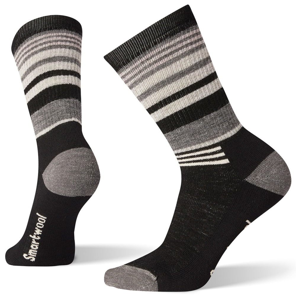SMARTWOOL Women's Hike Crew Socks - 001 BLACK