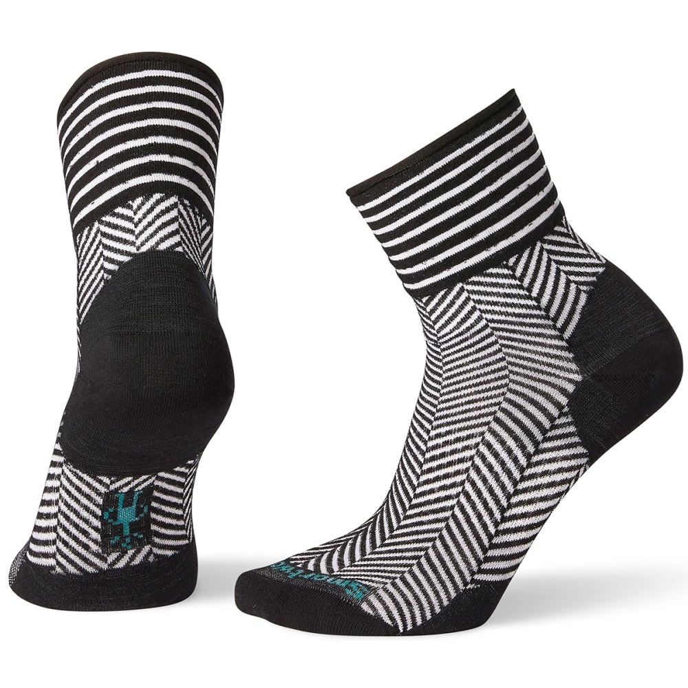 SMARTWOOL Women's Herringbone Mini Boot Socks - BLACK - 001