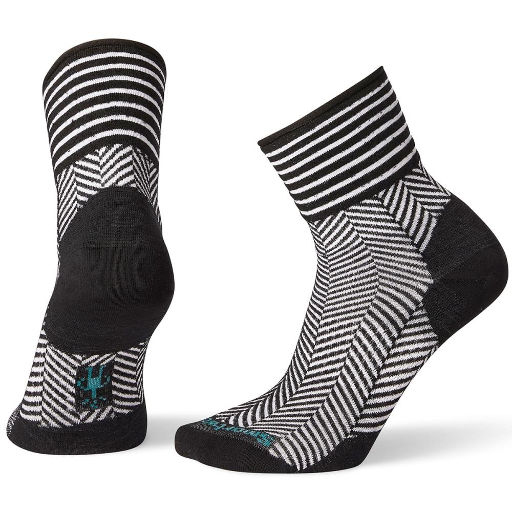 SMARTWOOL Women's Herringbone Mini Boot Socks - BLACK - 001