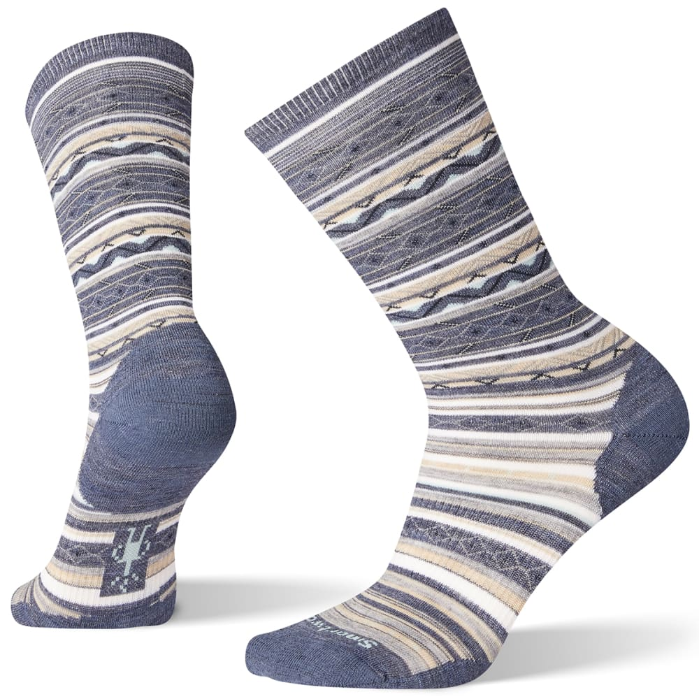 SMARTWOOL Women's Ethno Graphic Crew Socks - DARK BLUE ST 292