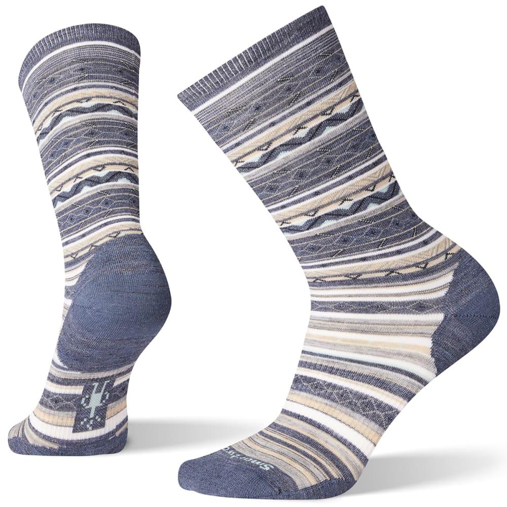 SMARTWOOL Women's Ethno Graphic Crew Socks - DARK BLUE ST 292