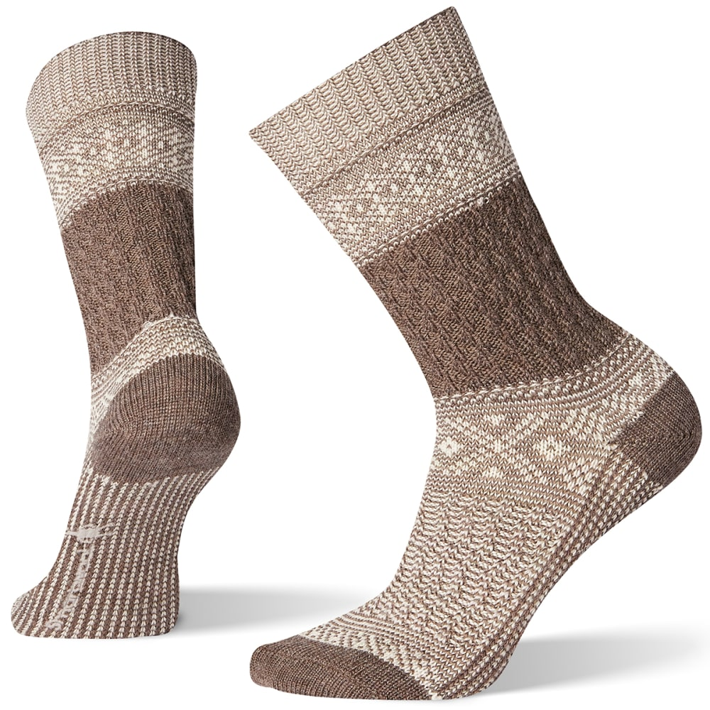 SMARTWOOL Women's Garter Stitch Texture Crew Socks - TAUPE - 236