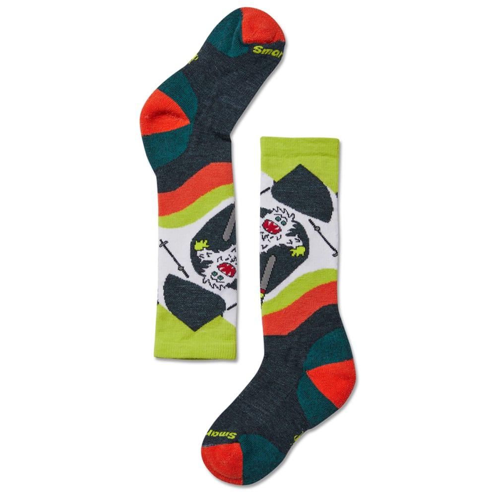 SMARTWOOL Kids' Wintersports Yo Yeti Socks - EVERGLADE-B96