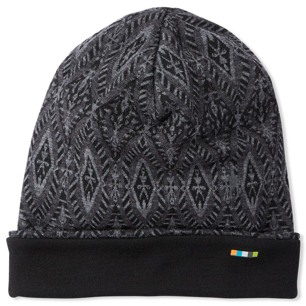 SMARTWOOL Men's Merino 250 Reversible Cuffed Beanie - C14-BLACK MEDALLION