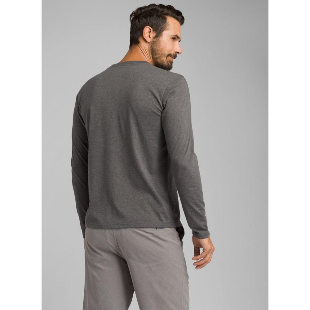 PRANA Men's Long-Sleeve Crew Shirt - CHARCOAL HEATHER