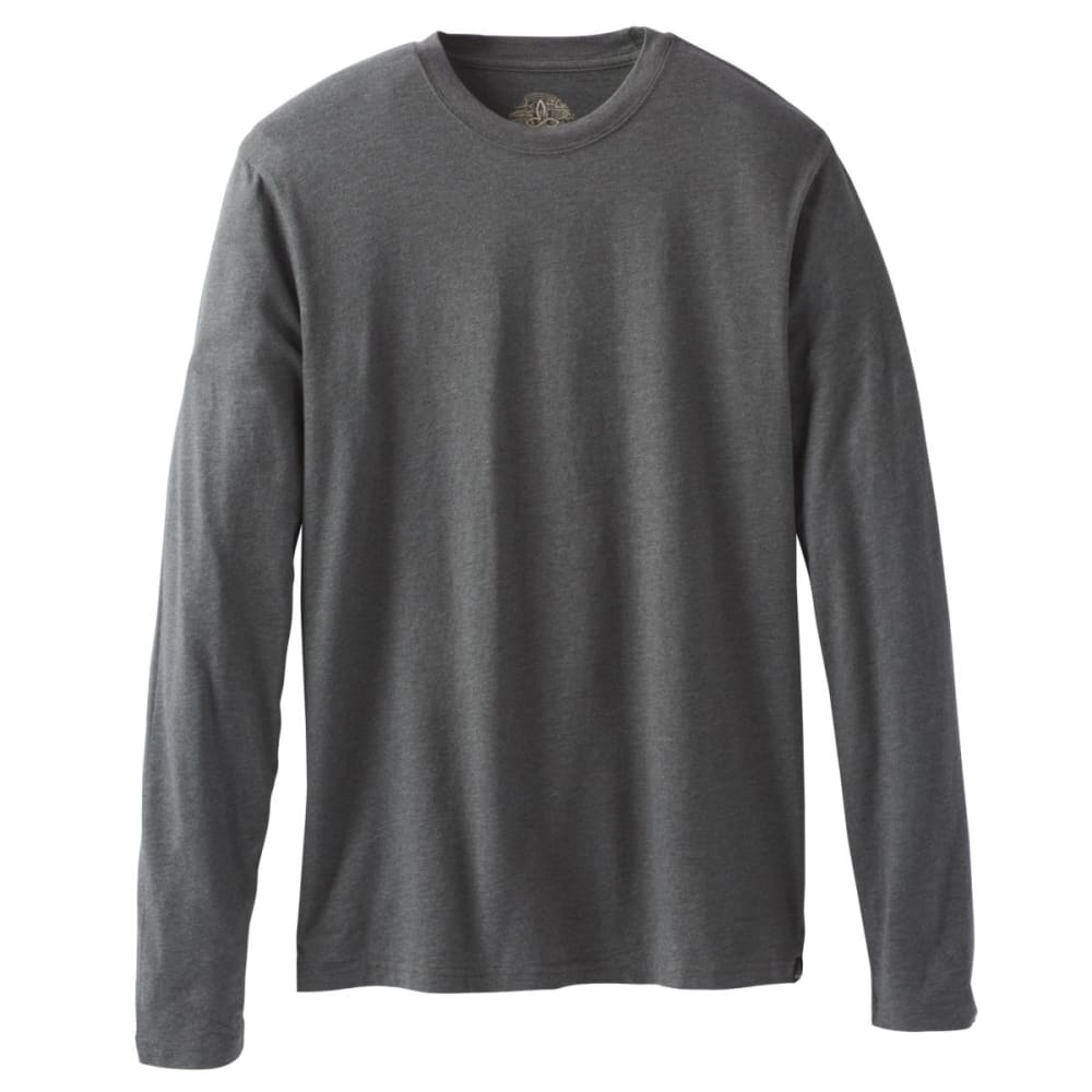 PRANA Men's Long-Sleeve Crew Shirt - CHARCOAL HEATHER