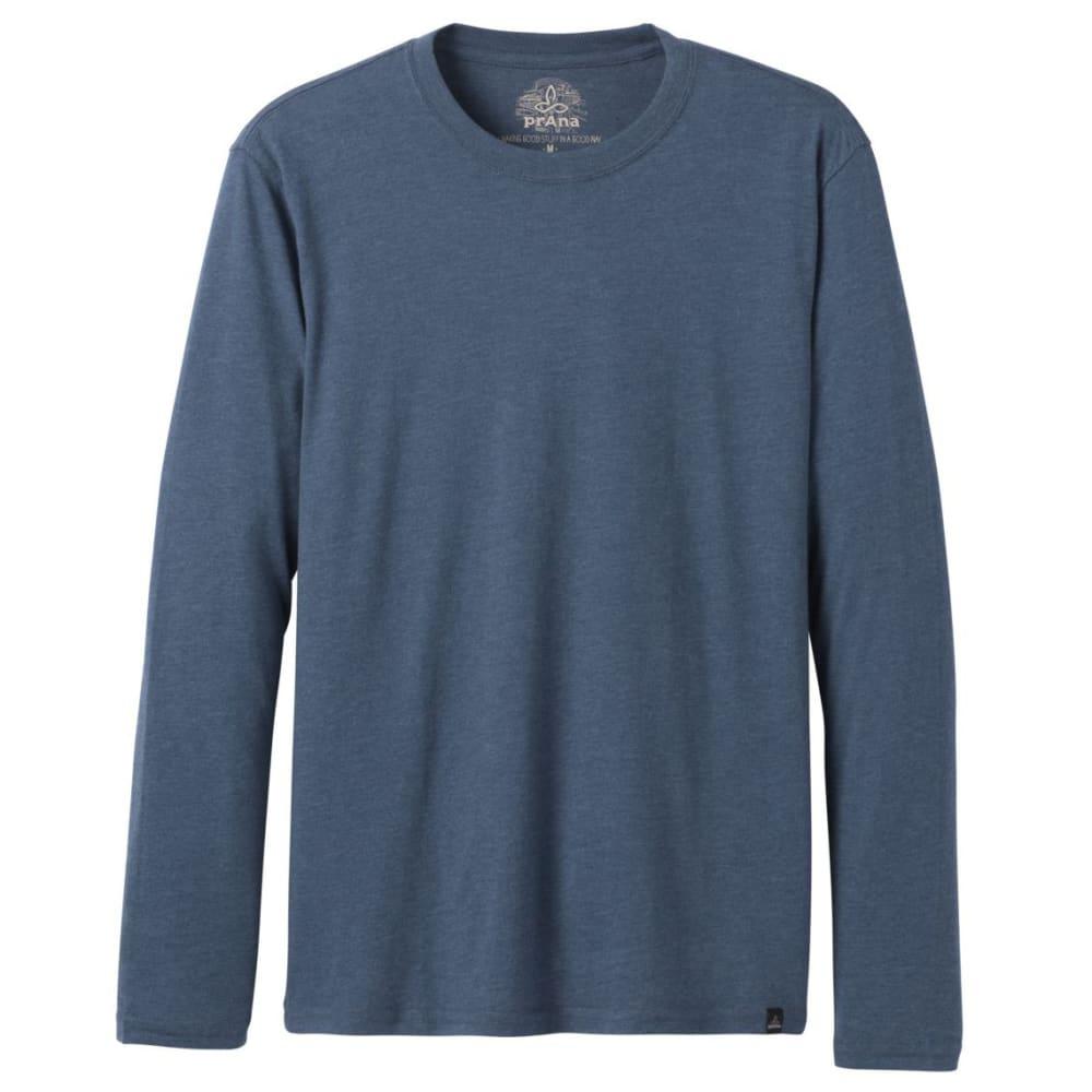 PRANA Men's Long-Sleeve Crew Shirt - DENIM HEATHER