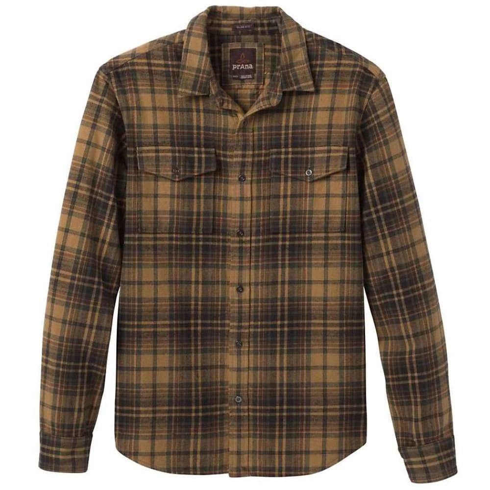PRANA Men's Plano Flannel Shirt - MUD