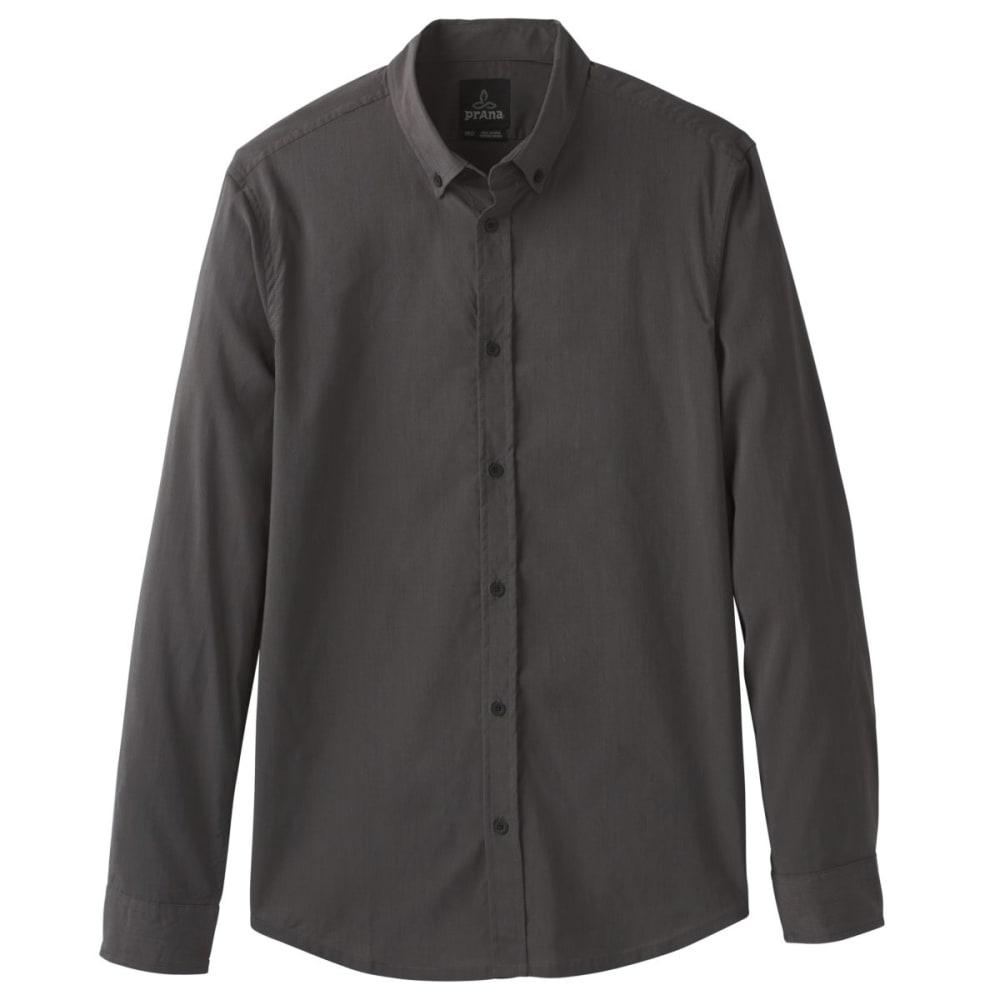 PRANA Men's Granger Long-Sleeve Shirt - CHARCOAL