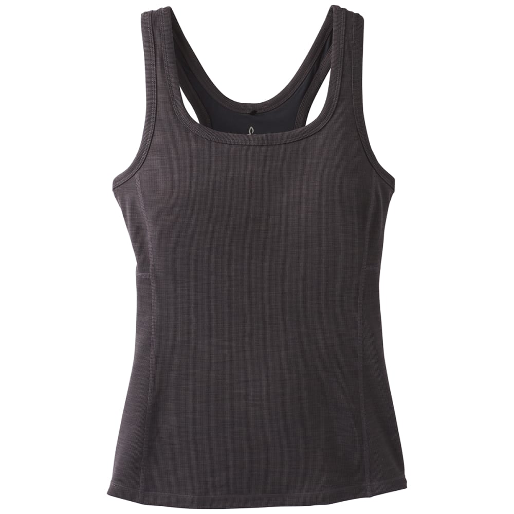 PRANA Women's Becksa Tank Top - BLACK HEATHER