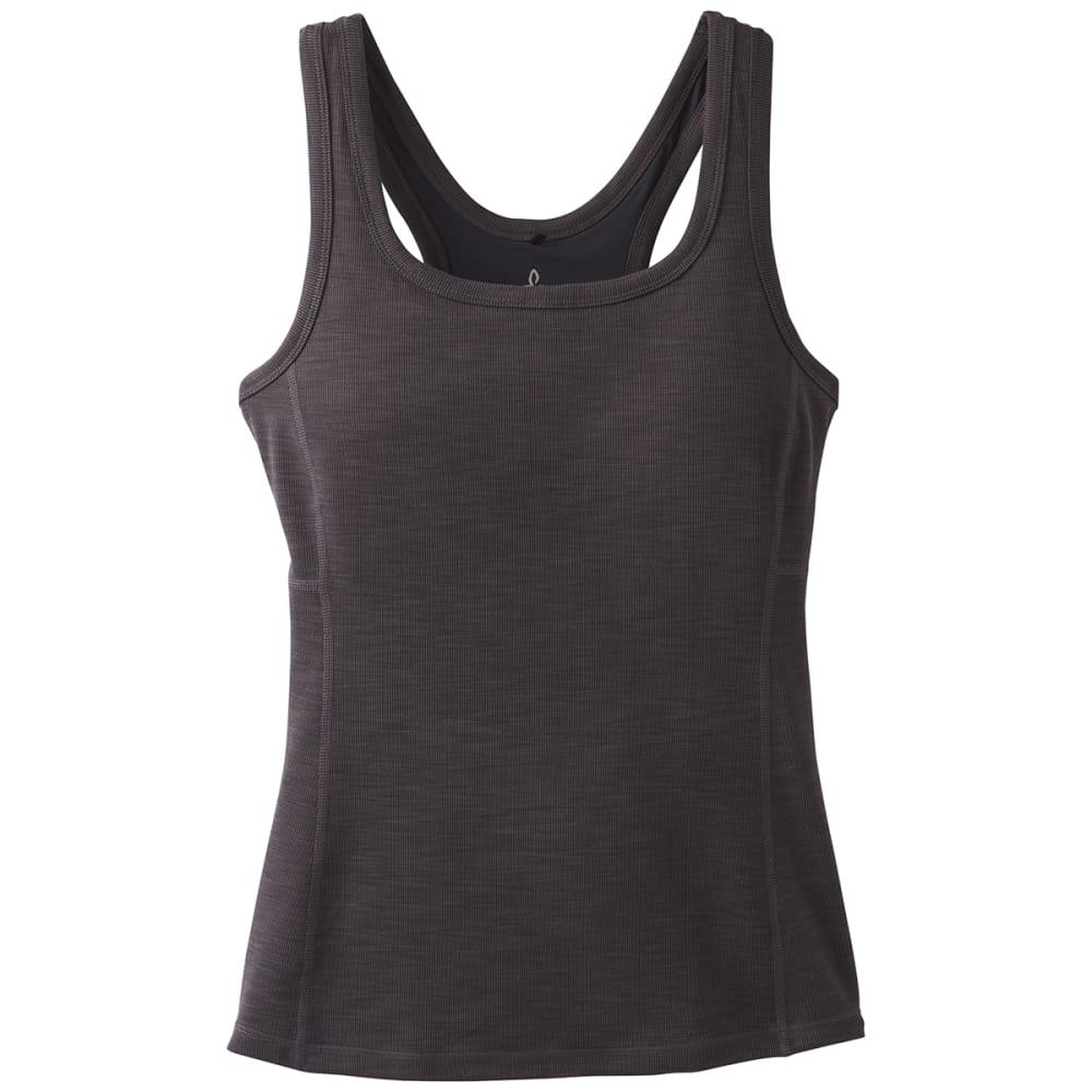 PRANA Women's Becksa Tank Top - BLACK HEATHER