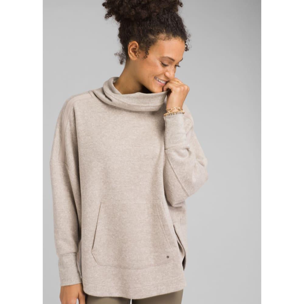 PRANA Women's Cozy Up Poncho - OATMEAL  HEATHER