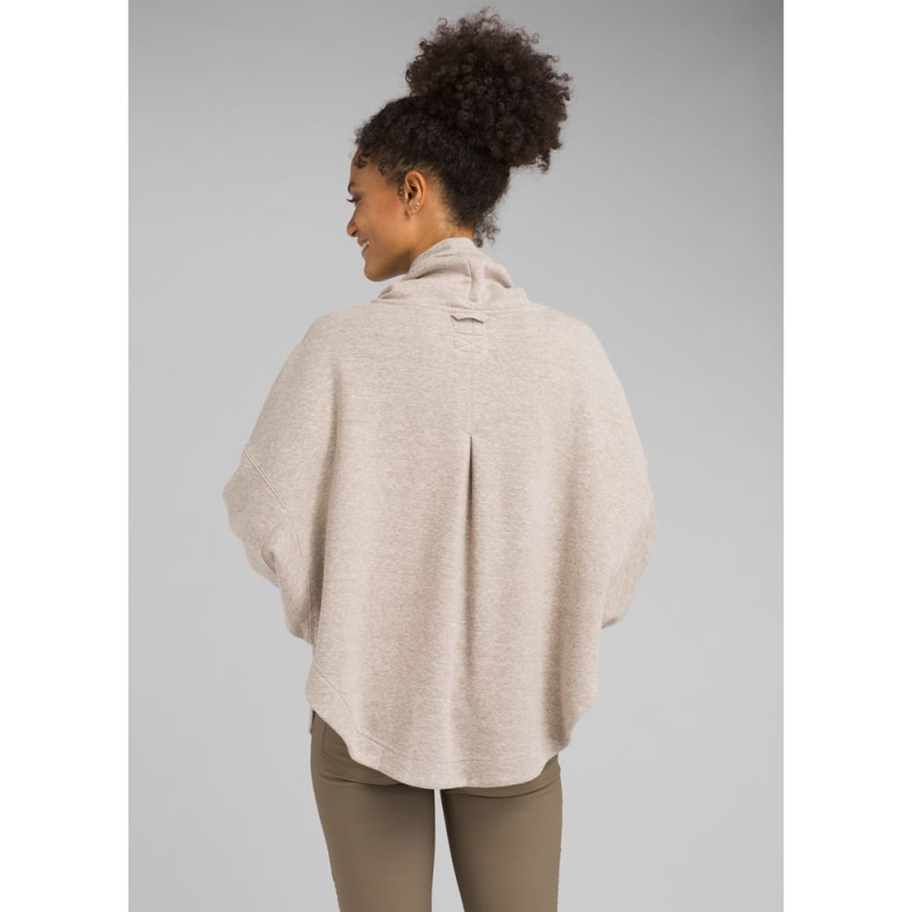 PRANA Women's Cozy Up Poncho - OATMEAL  HEATHER