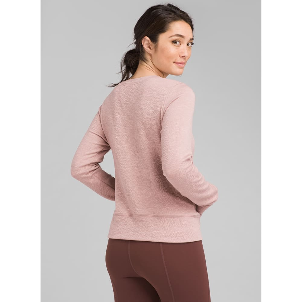 PRANA Women's Knit Sunrise Sweatshirt - LIGHT MAUVE