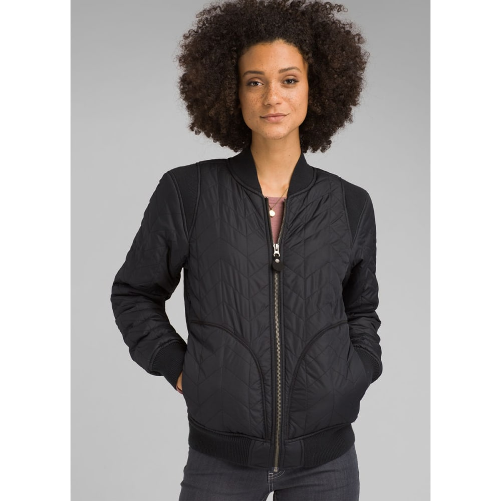 PRANA Women's Diva Varsity Jacket - BLACK