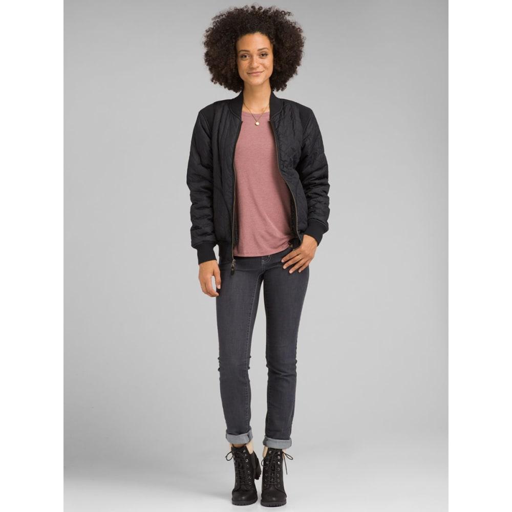 PRANA Women's Diva Varsity Jacket - BLACK