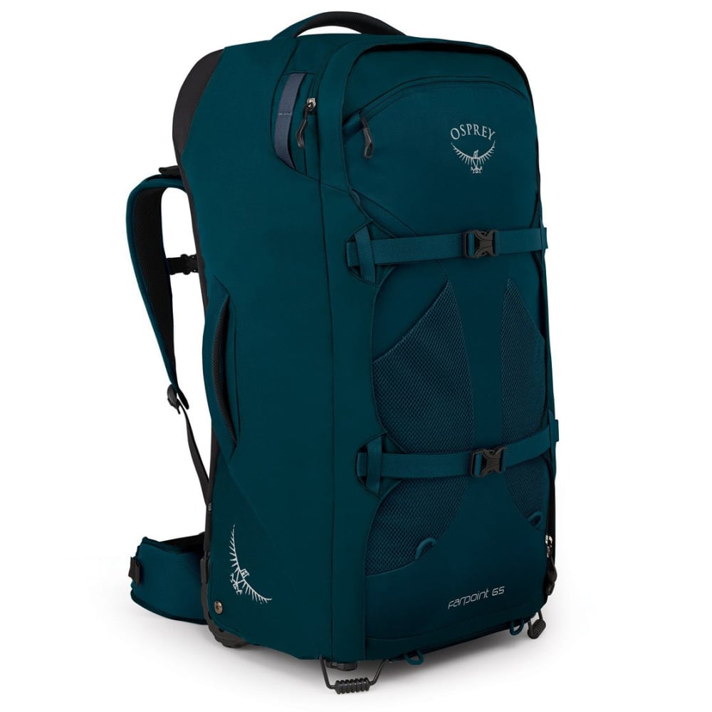 OSPREY Men's Farpoint Wheeled Travel Backpack - PETROL BLUE